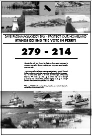 Save Passamaquoddy Bay - Protect Our Homeland Stands Behind the Vote in Perry!