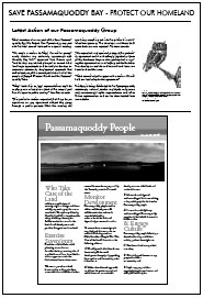 Latest Actions of Our Passamaquoddy Group