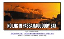 No LNG in Passamaquoddy Bay poster