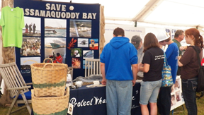 Save Passamaquoddy Bay booth at the Common Ground Fair