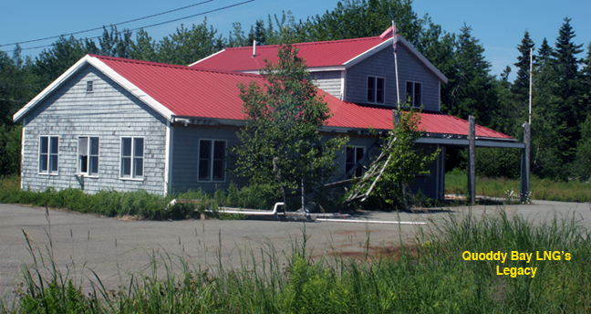 Quoddy Bay LNG deserted offices