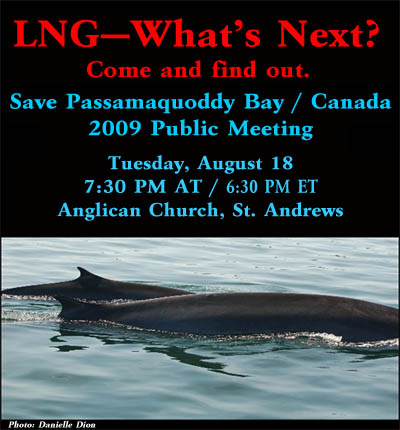 Save Passamaquoddy Bay - Canada annual meeting
