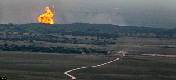 Natural Gas Pipeline In Texas Ruptures